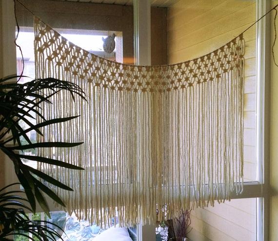 Handmade Wedding Altar: Handmade Macrame Wall Hanging. Outdoor Wedding Altar