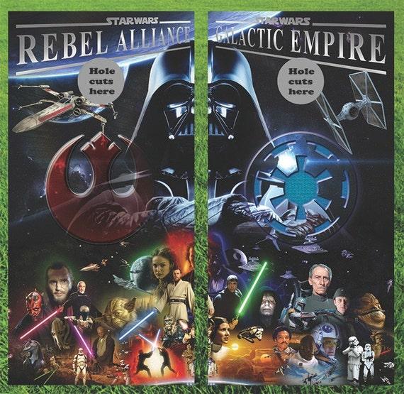 Star Wars Cornhole Wrap Decals Bag Toss 3M Vinyl 24x48