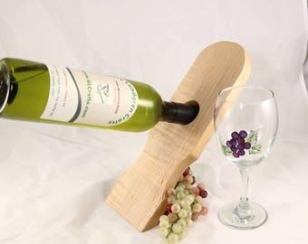 Bottle Balancer in Geometric design made of Maple