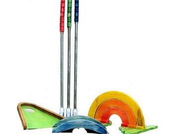 Wooden Mini Golf set