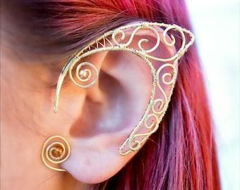 Golden ear cuffs, Faery ears, Elven ears, Faery ear cuffs, Elf ears