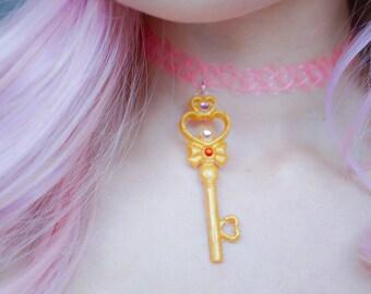 Chibi moon key 90's choker, Sailor moon tattoo choker