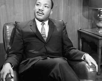 Reverend Billy Graham Doctor Dr Martin Luther King Jr 8.5x11  PHOTOGRAPH   photograph of iconic  Civil Rights Hero