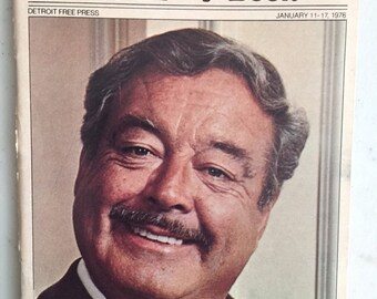 9c45cd6c4ec TV Guide Detroit Free Press Jan 11-17 1976 Jackie Gleason Minnesota Fats  The Hustler with Paul Newman Smokey and the Bandit Burt Reynolds