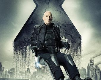 Photo of  actor Sir Patrick Stewart   8.5x11 inch   photograph captain Jean Luc Picard of Star Trek Professor X of the X-men