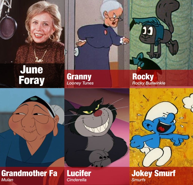 Voice Actress June Foray autograph Signed Autographed 3 5x5 25 photo w free  bonus print voice of Looney Tunes Granny smurf Witch Hazel Rocky