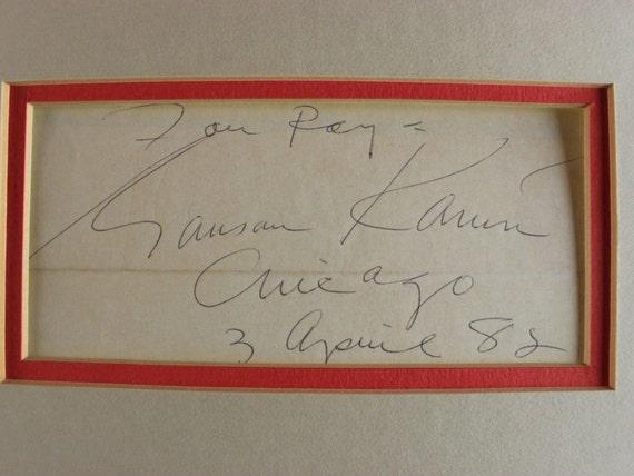 Dwight D Eisenhower Autograph Reprint On Genuine Original Period 1940s 3X5 Card