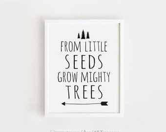 Grow Mighty Trees Etsy