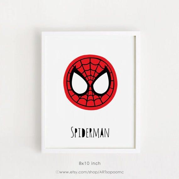 Superhéroe para niños arte imprimibles infantiles arte bebé | Etsy
