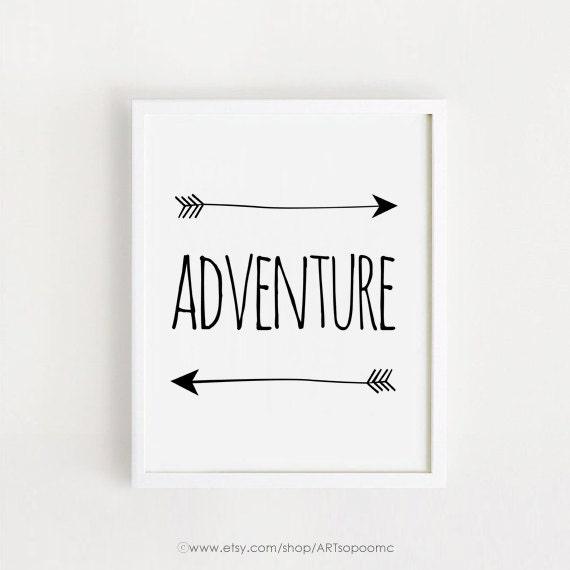 Frases De Aventura Para Imprimir Cartel Blanco Y Negro Impresión Bebé Niños Arte Infantil Niños Arte Pared Decoración Descarga Sala 8 X 10 A4