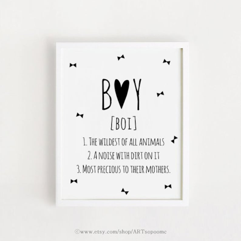 Baby Boy Quotes Sayings Wall Art Printable Poster Black And Etsy