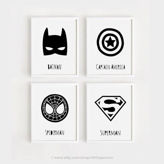 Arte de superhéroe para el arte de los niños imprimibles | Etsy