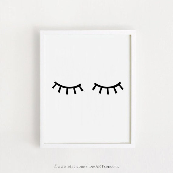 Oeil Art Imprimable Imprimer Bébé Chambre Déco Télécharger Art Scandinave Affiche Murale Autocollant Noir Et Blanc Bebe Minimal Art Numérique