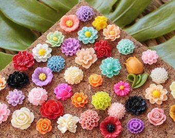 BESTSELLER Small Mixed Flower Thumbtacks, Mix Wild Flower Pushpin, Large Variety Floral Push Pin Set, Pretty Flower Pushpins, Popular Tacks