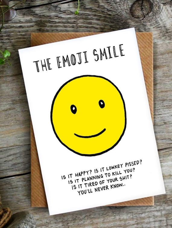 Funny Card Birthday Emoji Social Media Facebook The