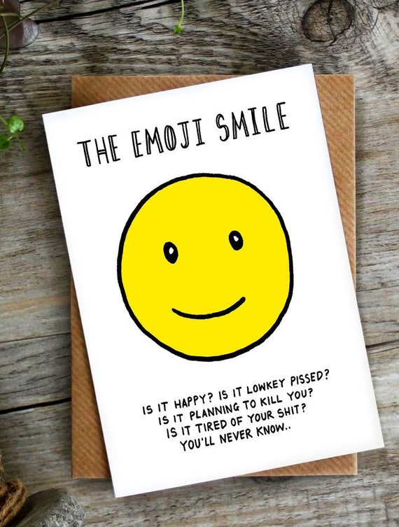 Funny Card Birthday Emoji Social Media Facebook The