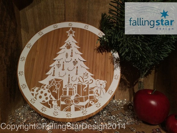 Commercial Christmas Tree.Commercial Christmas Tree Teddy Mouse Papercutting Template