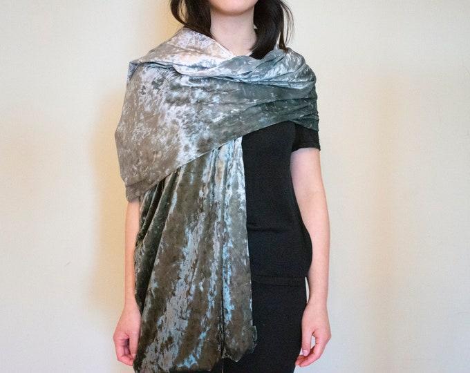 "Beautiful velvet shawl 18""x75"