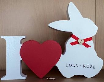 Rabbit plaque, rabbit memorial, animal gift, bunny