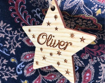 Star tree hanger, Christmas deocration, Gift tag