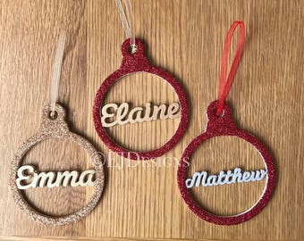 Glittery baubles, Christmas baubles