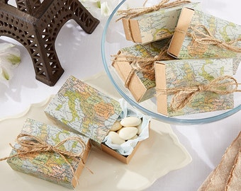 World map gift box etsy around the world map favor box set of 24 party favour boxes wedding gift box maps travel destination outdoor events birthday party supplies gumiabroncs Gallery