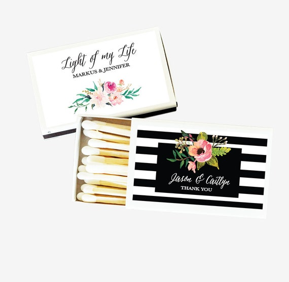 Adult Birthday Matches Set of 50 Match Sticks White Box 21st 25th 30th 40th 45th 50th Bash Nautical Tea Party Favors Thank You Gift Keepsake