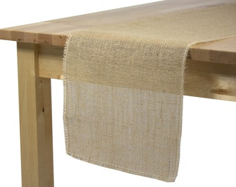 Burlap Table Runner 12 1/2 x 120 inches, Rustic Wedding Burlap Table Runners with Fringed Edges, Burlap Table Runners for Rustic Weddings
