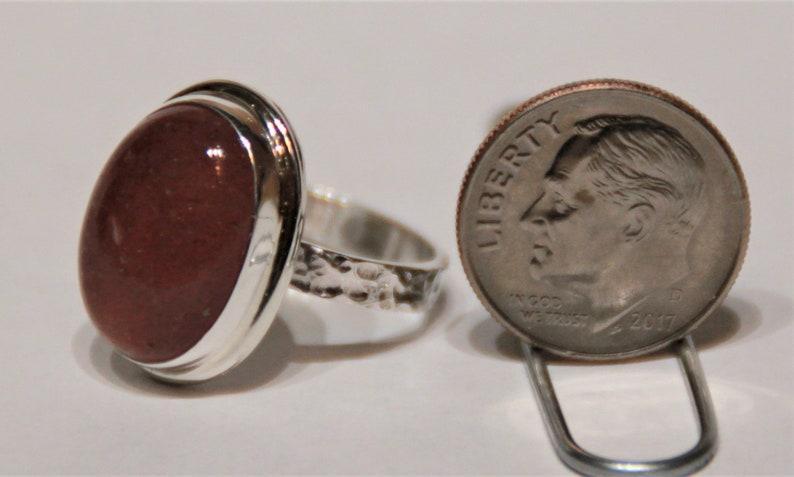 Handcrafted Strawberry Quartz Ring