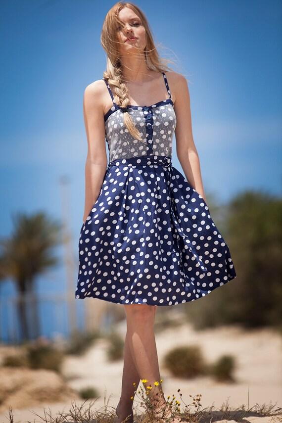 Mango WOMEN/'S lusinghiero Bottoni con Cintura Abito in denim blu