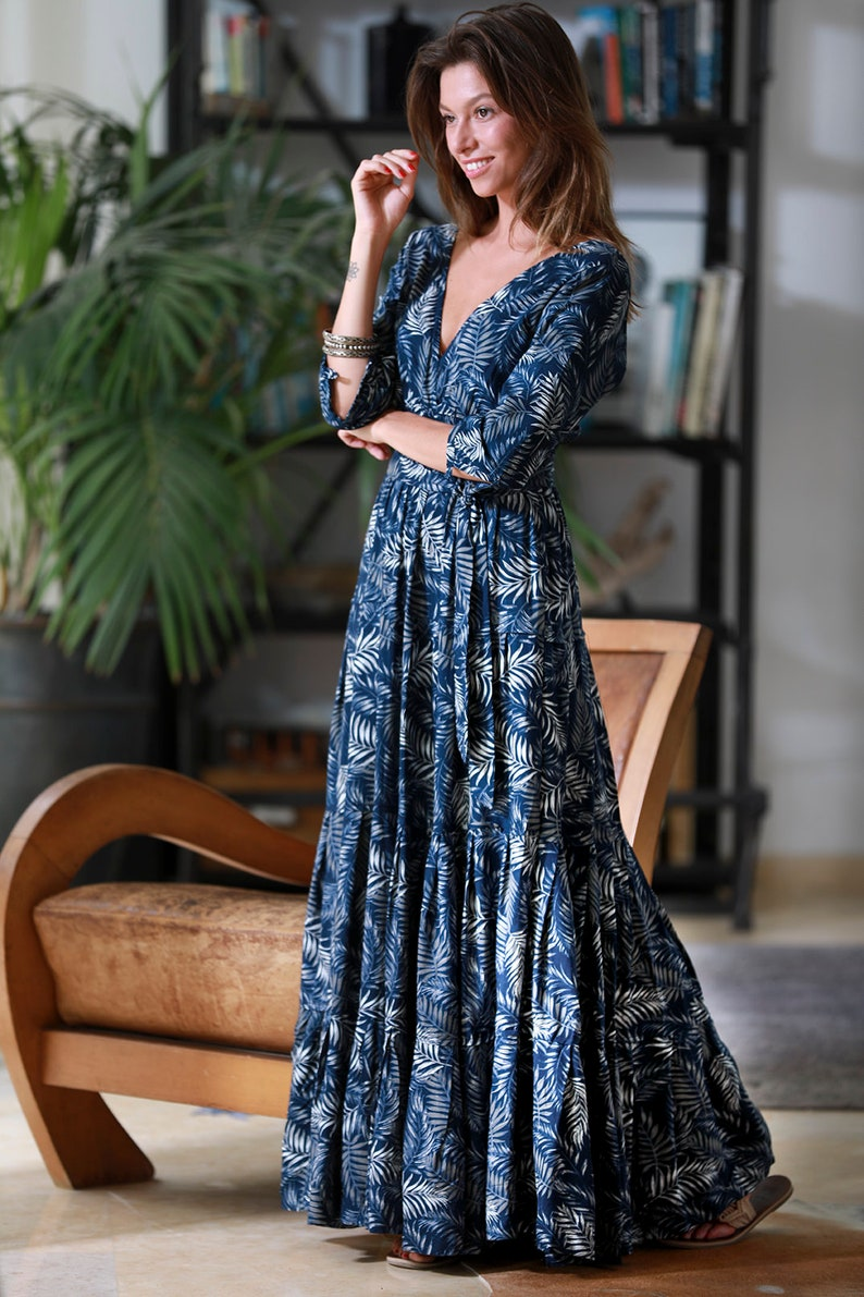 37144007be9 Spring Maxi Dress Long sleeves Conservative Dress Urban
