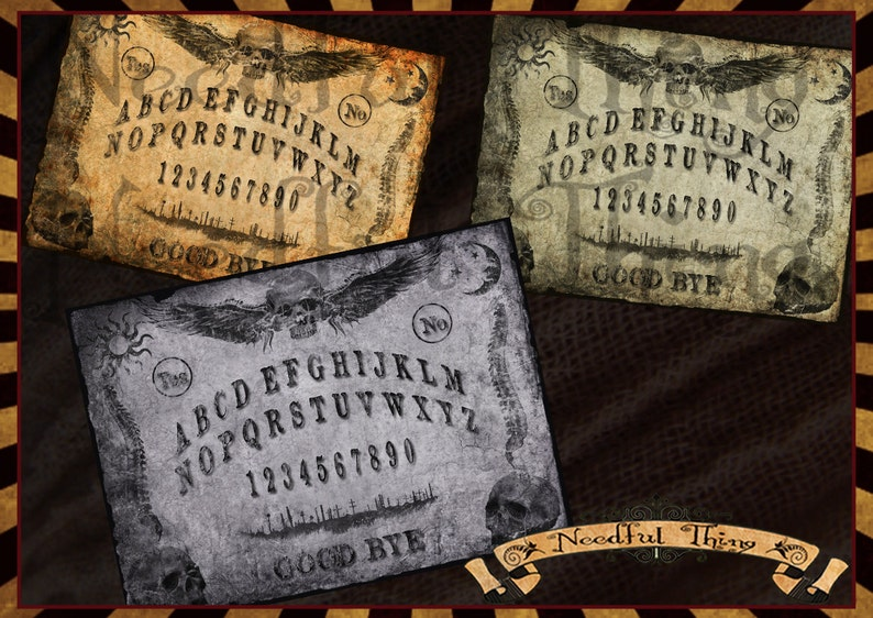 photograph about Ouija Board Printable named Electronic 4 OUIJA board printable traditional steampunk previous paper shabby down load grunge skull goth creepy halloween perform activity sbooking OOP