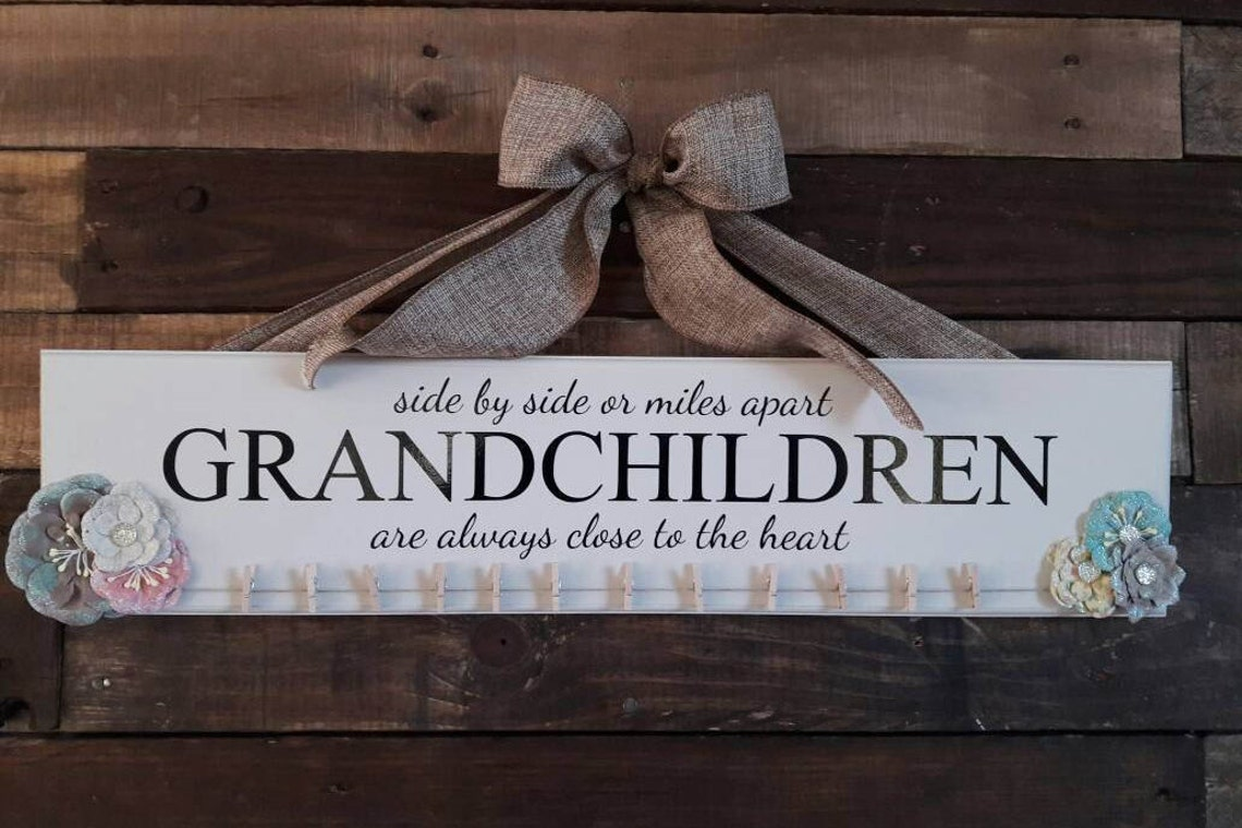 Grandchildren sign