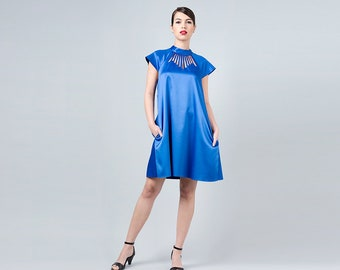 64ed6f3090 Blue collar dress