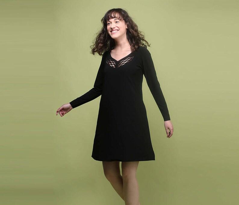 Long Sleeve Dress Modest Dress Little Black Dress Modest | Etsy