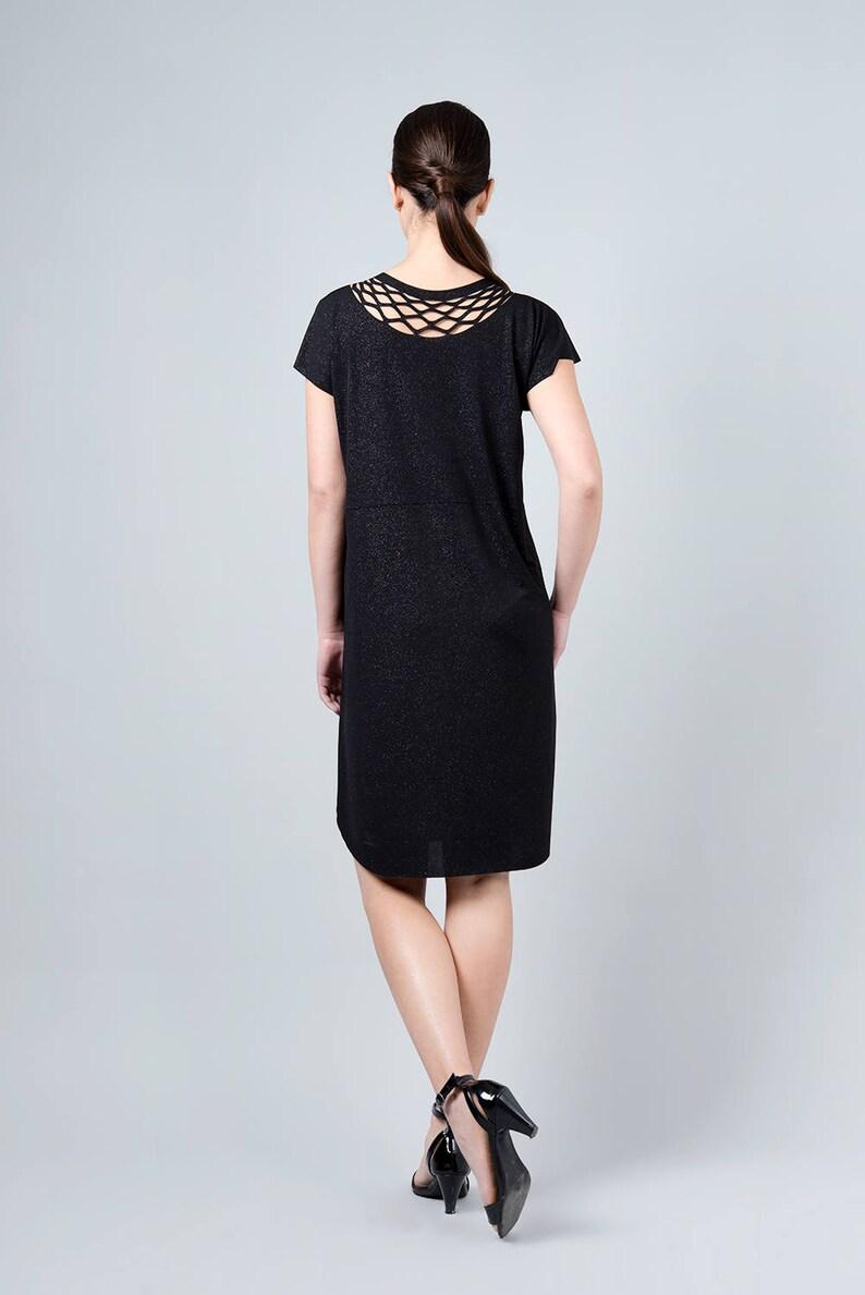 Ball Dress Knee Length Dress Elegant Black Dress Cocktail Black Dress Black Formal Dress Black Dress Black Fall Dress Fall Dress