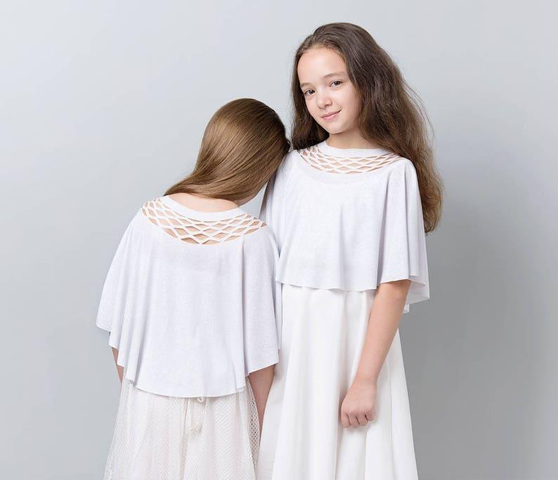 a6de895834bb Girls Dresses Covers Girl White Dress Cover Girls White | Etsy