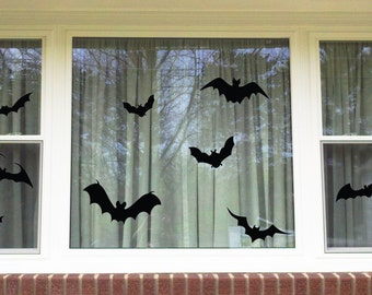 Halloween Bats Window/Wall Vinyl Decal Decorations...You choose the color!