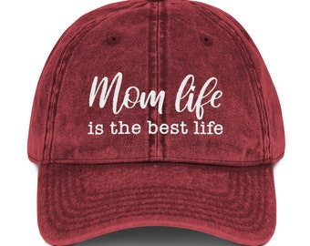 6342bced8c9 Mom life hat - mom life is the best life - new mom gifts - motherhood gifts  - mother s day gifts - hats for moms - gifts to cool moms -  mom