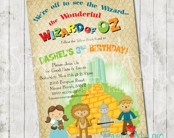 Wizard of oz invites Etsy
