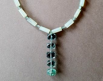 Necklace of Chalcedony, Apatite and Fluorite.