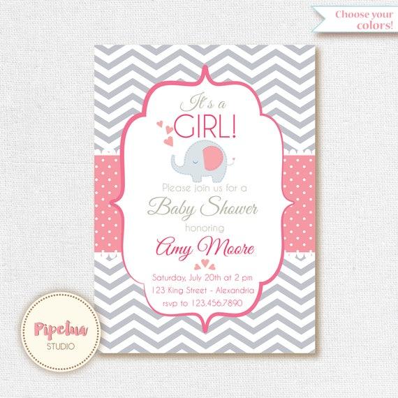 Baby Shower Invitation Babygirl Shower Babyboy Shower Etsy