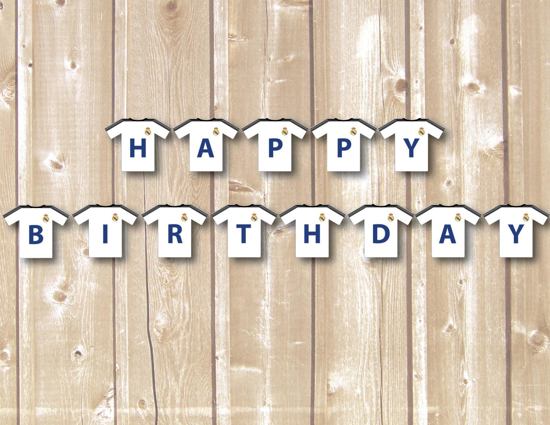 Banderin Feliz Cumpleaños Real madrid