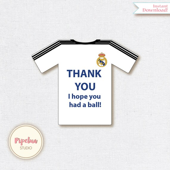 innovative design 006aa 53316 Thank You Favor Tags .Real madrid printable. Printable Favor Tags Soccer  Birthday diy Thank You Tags INSTANT DOWNLOAD