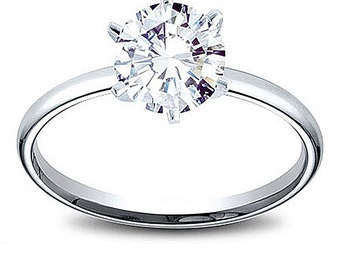 14K Gold 1.82 ct Brilliant Round Cut GIA Certified Diamond Solitaire Engagement