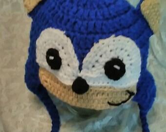 Crochet Sonic Hat Etsy