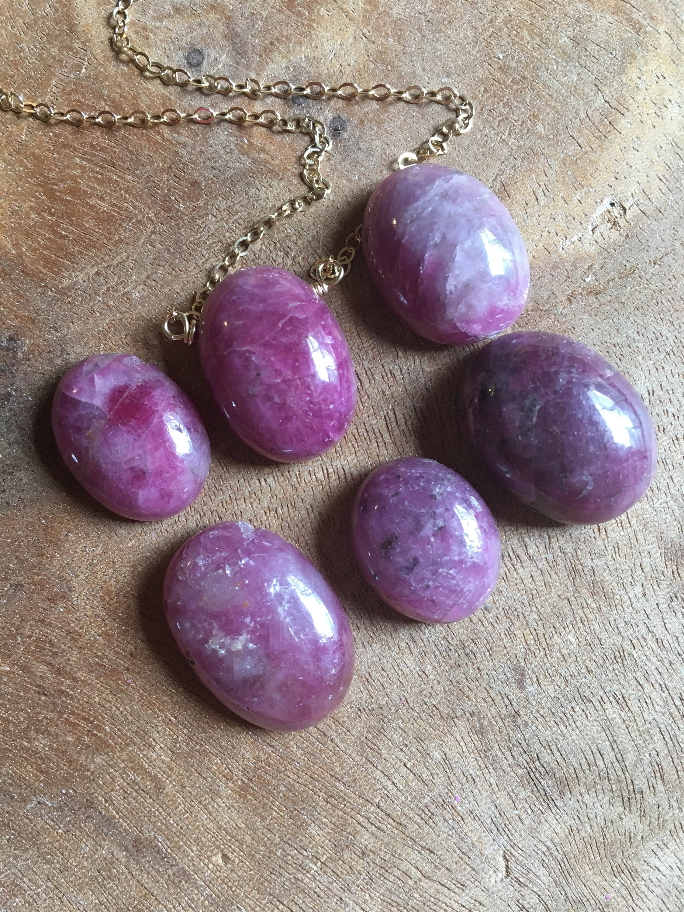 ee8a0879fc2 Ruby Necklace - Raw Ruby Necklace - July Birthstone Necklace - Ruby Jewelry  - Gift For Her - Ruby - Raw Stone Necklace - Genuine Ruby