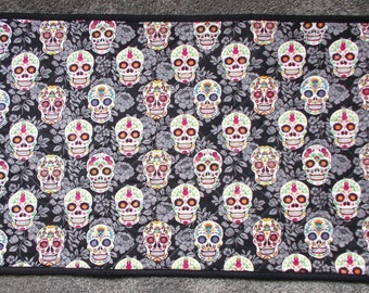 Quilted Table Mat, Sugar Skulls