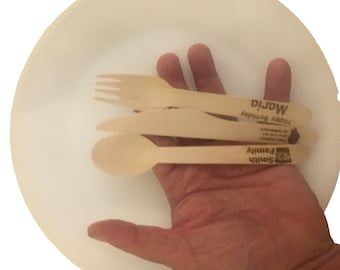 Bamboo Disposable Composable Tableware (Knife, Fork, or Spoon)