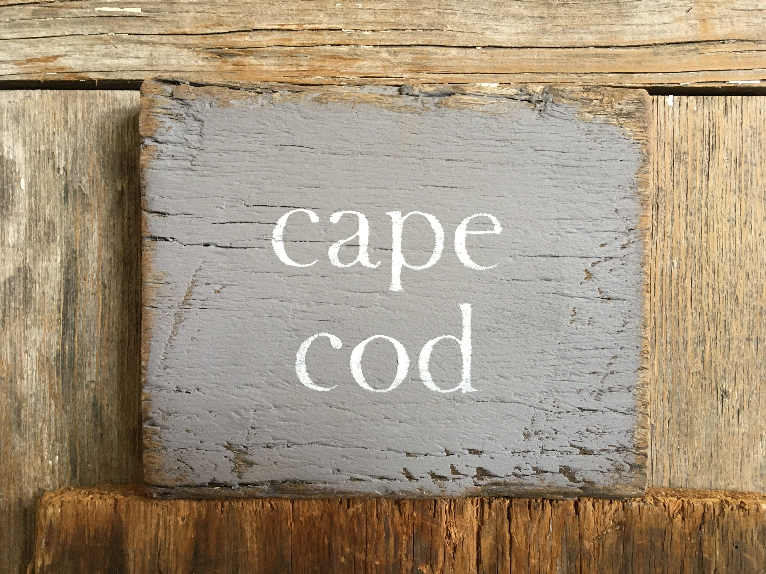 Awe Inspiring Cape Cod Sign On Reclaimed Barn Wood Shabby Chic Hand Download Free Architecture Designs Itiscsunscenecom